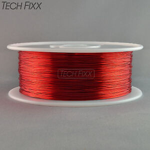 Magnet Wire 22 Gauge Awg Enameled Copper 1750 Feet Coil Winding 155 c Red