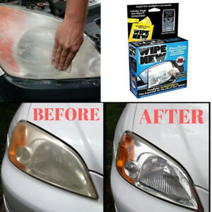 Car Headlight Lens Restoration System Repair Kit Light Polishing Pad Cleaner