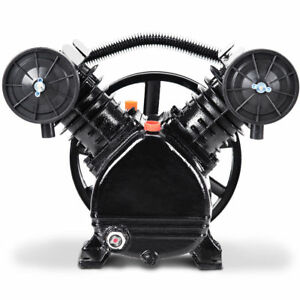 New 3hp 2 Piston V Style Twin Cylinder Air Compressor Pump Motor Head Air Tool