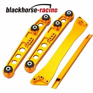 For Honda Civic 92 95 Eg Rear Lower Control Arm Subframe Brace Tie Bar Gold