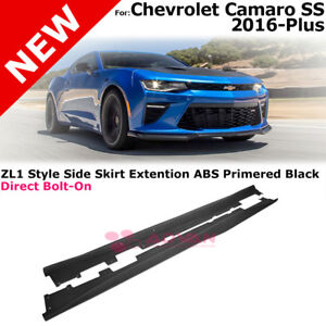 For 16 18 Camaro Ss Rs Zl1 Style Abs Side Skirts Panels Extension Body Kit