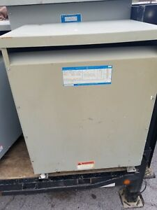 General Electric Ge Transformer Model 9t23b3875 112 5 Kva 480 208y 120 Volts