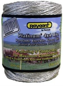 960 656 Platinum Fence Wire 4x4 Parmak Div Each Rl Contains 4 Strands Of Pv