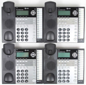 Lot Of 4 At t 1070 4 line Corded Small Business System Office Phones