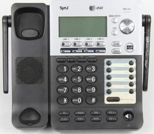 At t Sb67158 Dect 6 0 4 line Corded Small Business Phone System Base Unit