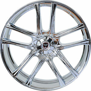 4 Gwg Wheels 18 Inch Chrome Zero Rims Fits Chevy Impala 2000 2013