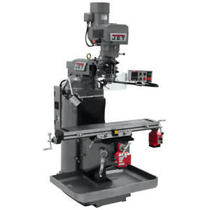 Jet Jtm 949evs 230 volt 3 hp 3 phase R 8 Mill W X axis And Y axis 690503