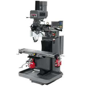 Jet 690518 230 volt 3 axis Quill Mill W Vue Dro X Y axis And Drawbar