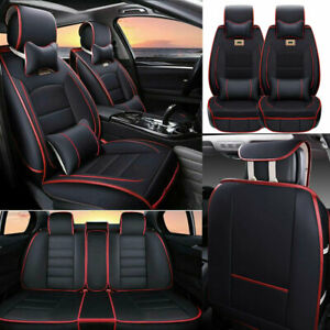Universal 5 seats Car Suv Pu Leather Seat Covers Front rear Cushions Luxury Set