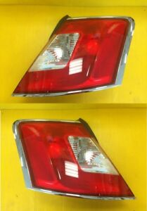 Taillight Pair Ford Taurus 2010 2012 Chrome Edging Fo2819141 Fo2818141