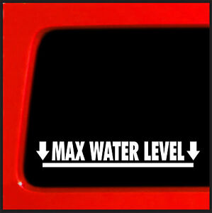 Max Water Level Sticker For Jeep Cherokee 4x4 Decal Offroad Funny Suv Jdm