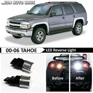 White High Power Reverse Backup 3157 Led Lights Bulb Fits Chevy Tahoe 2000 2006