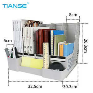 Tianse Grey Blue Document Trays File Holder With Small Cases Plastic File
