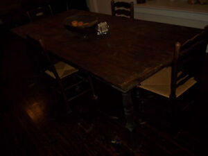 Early 19th C Century French Farm Harvest Table