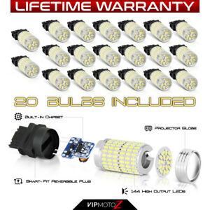 20x super White 3157 3156 3057 5730 Smd Led Parking Backup Tail Light Bulbs
