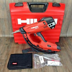 New hilti Gx 3 nail Gun Kit Case track Drywall Gas Actuated Tool Fastening