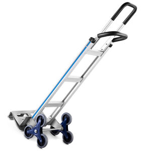 2 In 1 Folding Hand Truck Stair Climber Hand Truck Aluminum Cart Dolly 550lbs