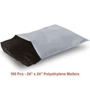 100 9 Huge Poly Mailers 24x24 Large Self seal Tear proof Shipping Mailing Bags