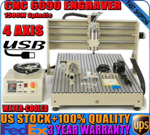 New Usb 4axis Cnc Router 6090 Engraver Milling Engraving Machine 1 5kw Spindle
