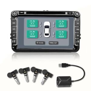 Car Auto Tpms Sensor Tire Pressure Monitor System For Android Usb Internal Mk1