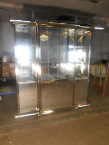 Stunning Vintage Design Institute Of America Lighted Display Cabinet Wall Unit