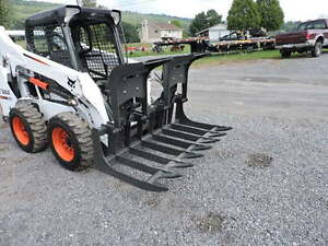 New Cid Xtreme 72 Root Grapple Bucket For A Skid Steer Loader Bobcat Case Cat