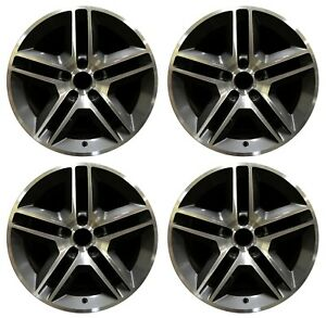 18 Ford Mustang Gt500 2010 Factory Oem Rim Wheel 3811 Charcoal Machined Set