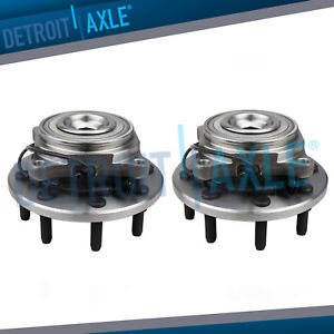 Front Wheel Bearing And Hub Assembly Pair For 2012 2013 2014 Ram 2500 3500 2wd