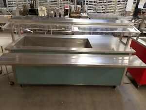 Delfield Shelleyglas Portable Cold And Hot Pan Salad Bar Buffet Table Set ref9