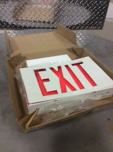 Emergi lite Led Exit Sign one Or Two Sided lwsnx14r 120 277volt white
