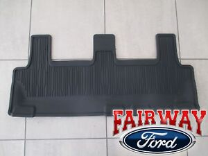 2018 Thru 2021 Expedition Oem Ford Black All Weather Floor Mat 3rd Row Seat