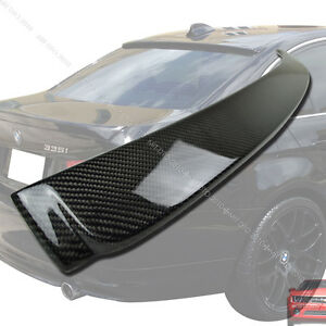 Ship From La Carbon Fiber E90 3 Series For Bmw Sedan Rear Roof Spoiler Wing M3
