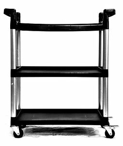 Utility Cart With Wheels High Performance Resist Dents Stains Rust Swivel Caster
