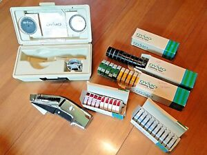 Dymo 1570 Tapewriter 51 Tape Rolls 3 Embossing Wheels Case Label Maker Excellent