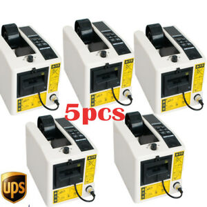 5pcs Automatic Tape Dispensers Adhesive Cutter Cutting Packaging Machine 3led Us