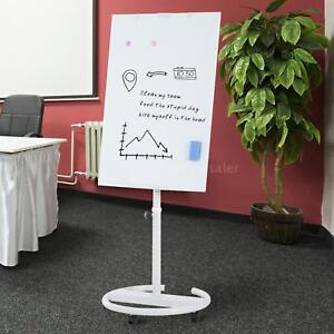 28 x40 Magnetic Height Adjustable Rolling Tempered Glass Dry Erase Board Stand