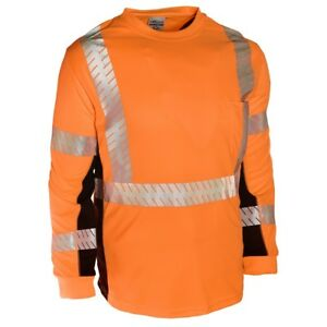 Ml Kishigo Black Series Class 3 Long Sleeve Safety Shirt Orange