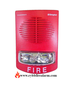 Simplex 4906 9251 Wall Speaker Strobe red P n 0743275 Free Ship The Same Day
