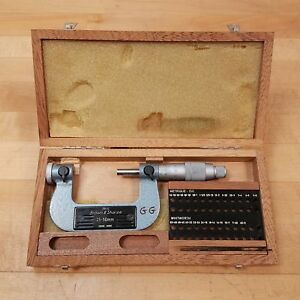 Brown Sharpe 210 12 25 50mm Thread Micrometer Without Tips Used