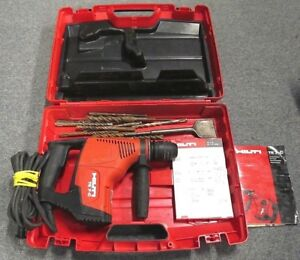 Hilti Te 7 c Powerful Triple mode Corded Sds Rotary Hammer Drill chisel W Bits