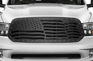Custom Aftermarket Grille For Dodge Ram 1500 2013 2018 Truck Grill American Flag