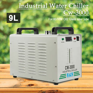 110v 60hz Cw 3000 Industrial Water Chiller For 60w 80w Co2 Laser Tube