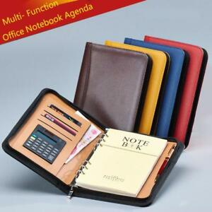 Writing Pads Portfolio Clipboard Binder Business Leather School Office Organizer
