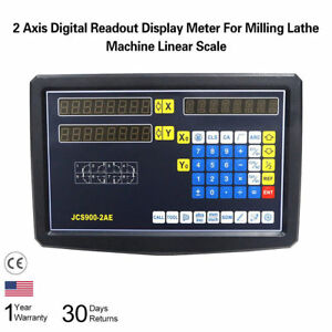 X Y 2 Axis Digital Readout Precision Linear Scales Kit For Milling Machine Pgs