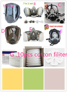 Face Gas Mask Painting Spraying Respirator For Full Masks 6800 Half Mask