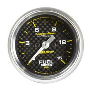 Autometer Carbon Fiber 52 4mm Full Sweep Electronic 0 15 Psi Fuel Pressure Gau