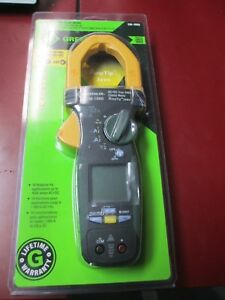 New Greenlee Cm 1560 Ac dc Clamp Meter
