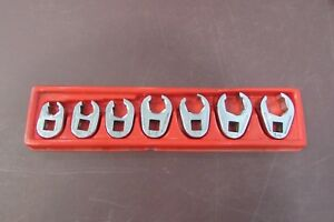 Snap On 7 Piece Crowfoot Flare Nut Wrench Set 3 8 11 16