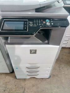Sharp Mx 3115n Color Copier Printer Scanner Sorter Fax 4 Trays 33k Meter