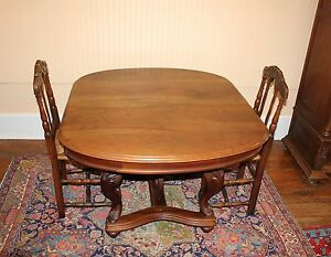 Antique French Walnut Wood Louis Xv Short Round Table Living Room Furniture